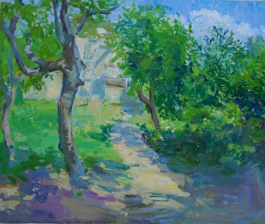 Асмик Манукян      Армения. В саду.    2016 г.    50х60 см.        Холст, масло.