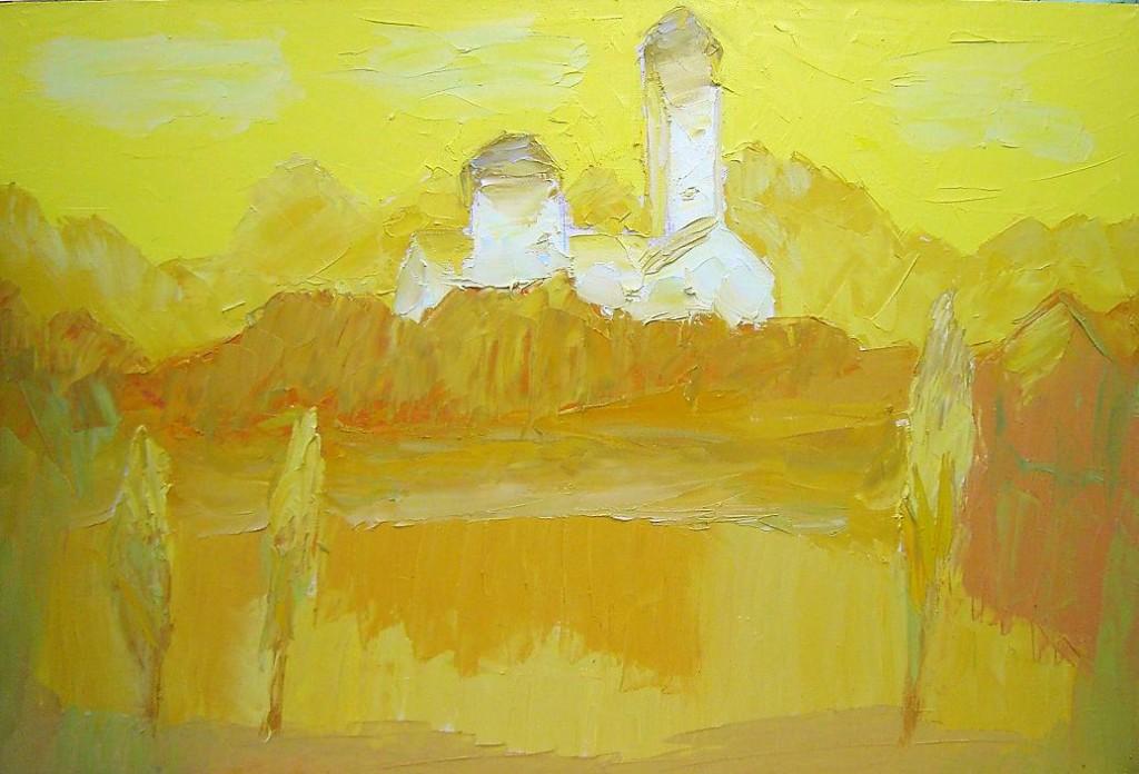 Сергей Лаушкин.    Звонница.    2008 г. Холст, масло. 70х80 см.