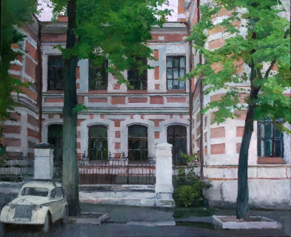 Максим Каеткин.    Городской пейзаж.     2008 г.    Холст, масло. 75х90 см.