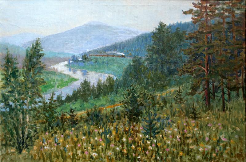 Слюсарев Иван Константинович (1886-1962 г.г.)          Река Ай.       1920-е.                              Холст, масло.   67х104 см
