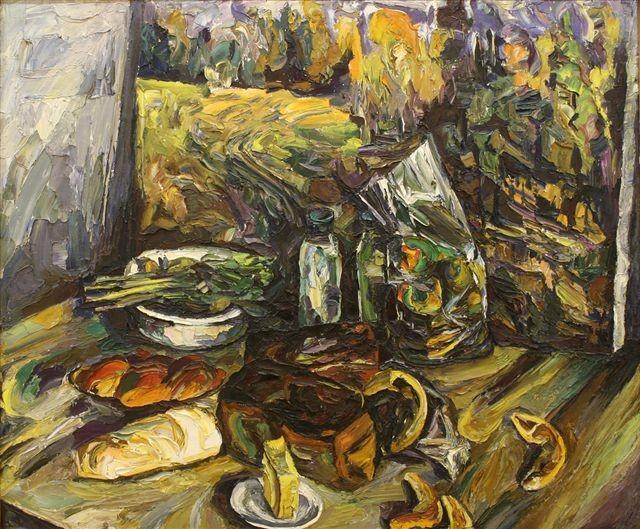 Алексей Бурлаков (1940-1999).     Осенний натюрморт.     1973 г. Холст, масло.