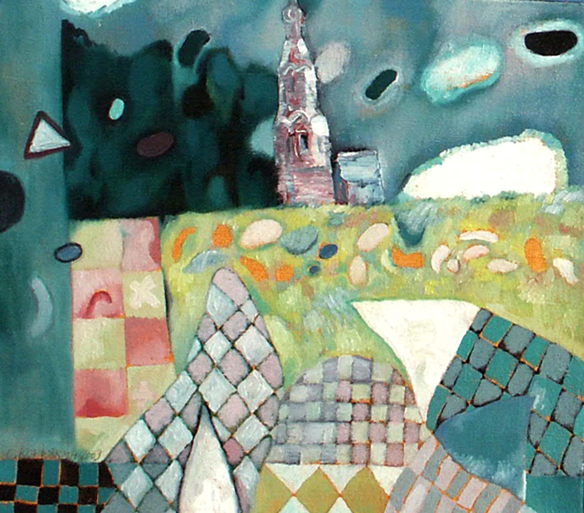 Из серии «Верхотурский Кремль».    2003 г.   Холст, масло.     36,5х40,5 см.