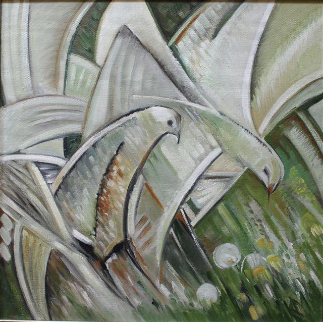 Разговоры белых птиц.           2002 г.           Холст, масло.