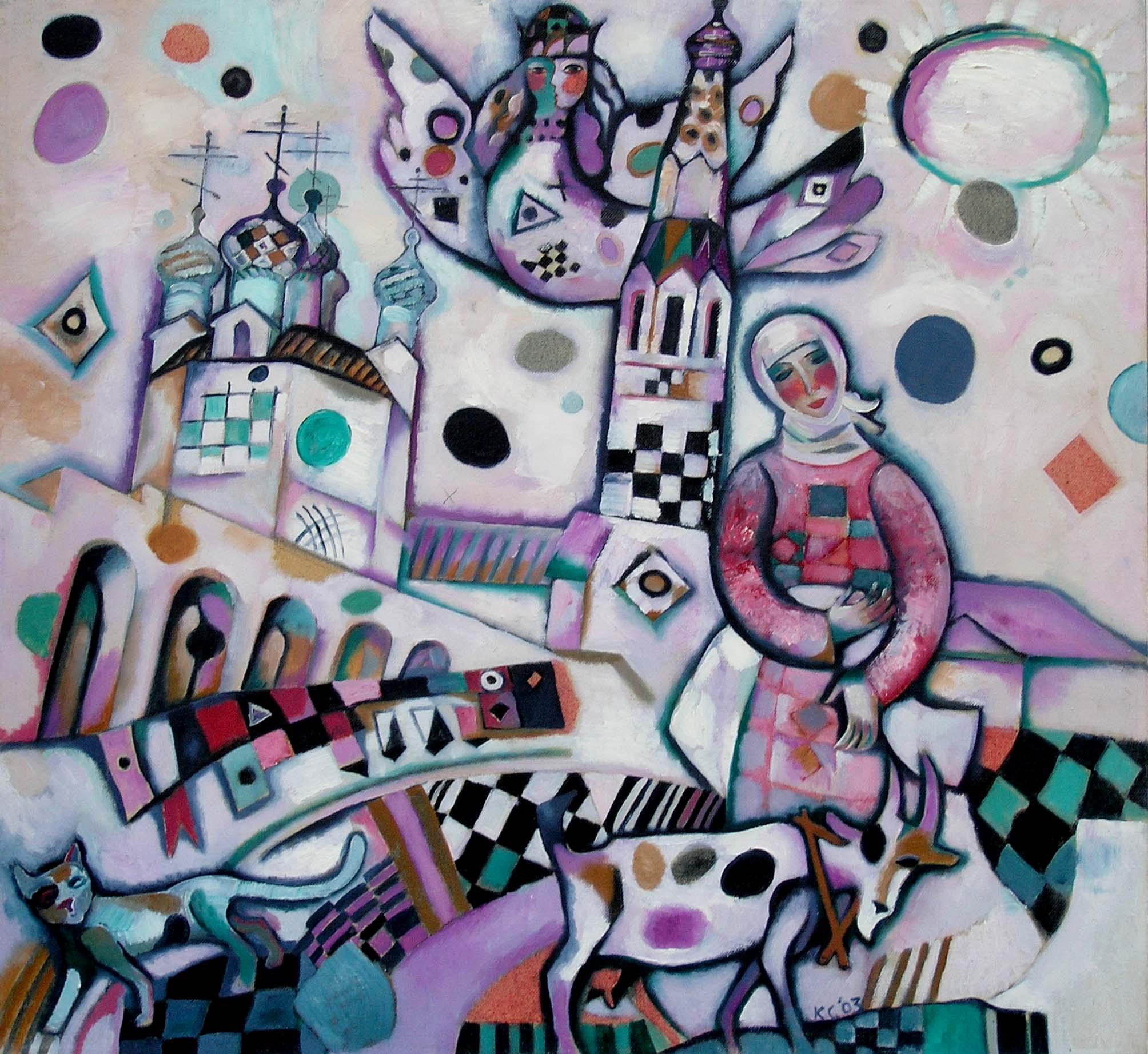 Верхотурский Кремль-4.      2003 г. Холст, масло.    65х70 см.