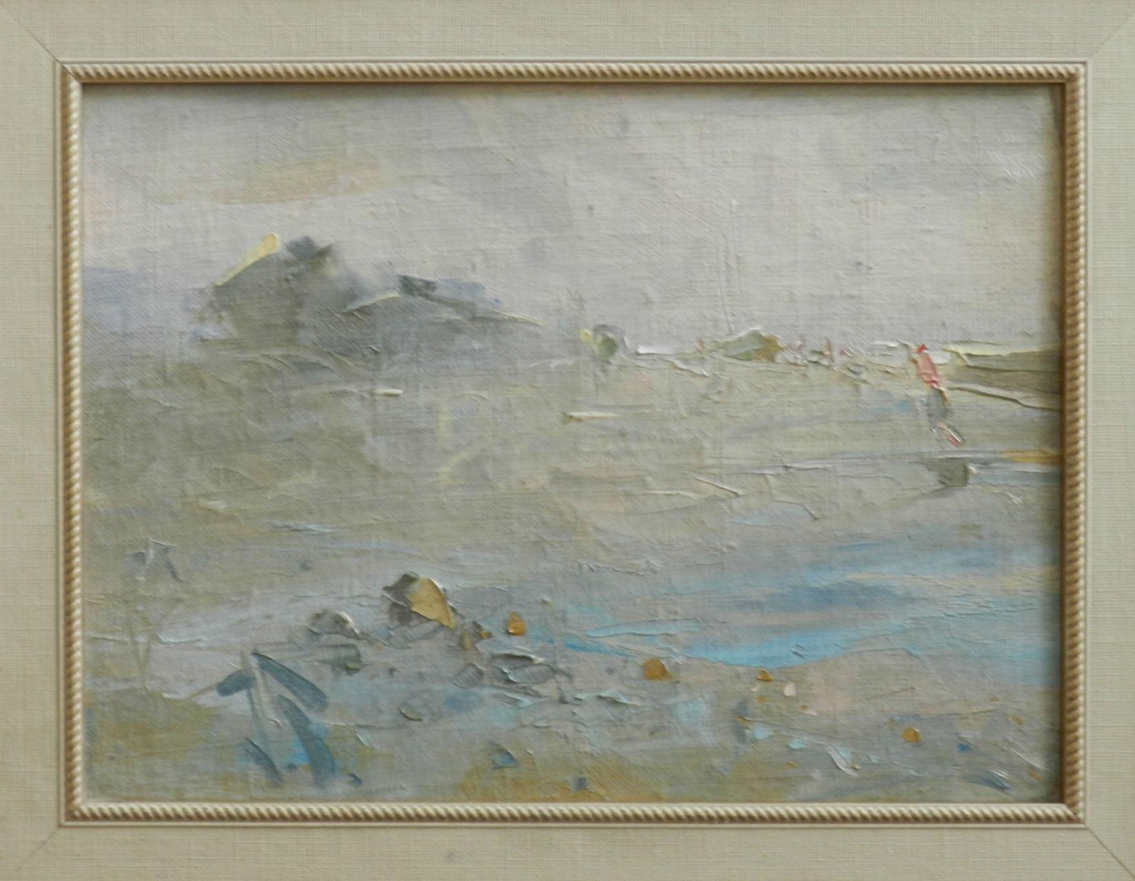 На взморье.    Старый Крым.      2006 г.          Картон, холст, масло.  26х35.5 см.