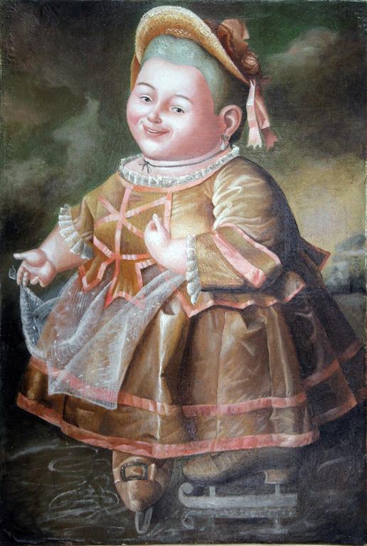 Рамиль Хабибуллин.        Портрет  Нелидовой.    2010 г.     Холст, масло.              35,6х26,4 см.