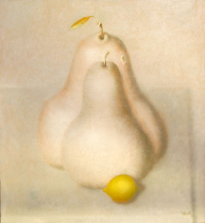 Юрий Первушин.     Свидание. (Фрукты).     2008 г. Холст, масло. 53х48 см