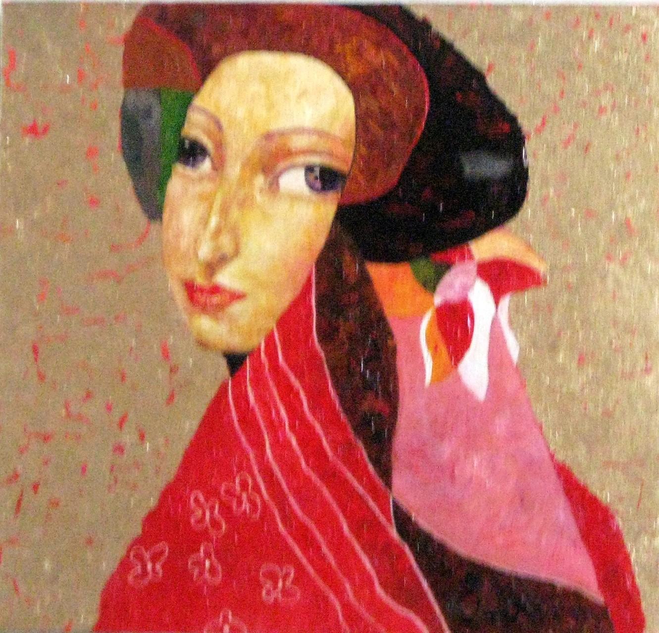 Цветущая сакура-1.         2015 г.        Холст, масло.   56х62 см.