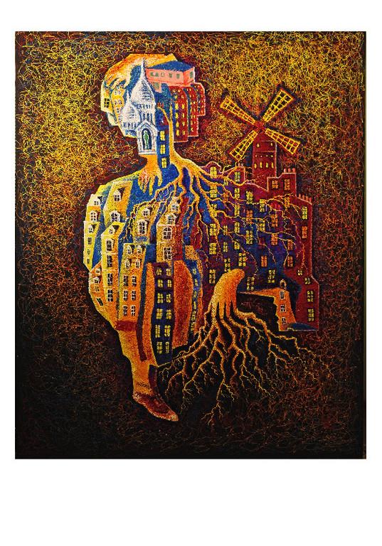 """Париж, Монмартр.    Проект """"Городская субстанция"""".   2010г.   Холст, акрил.           200х160 см"""