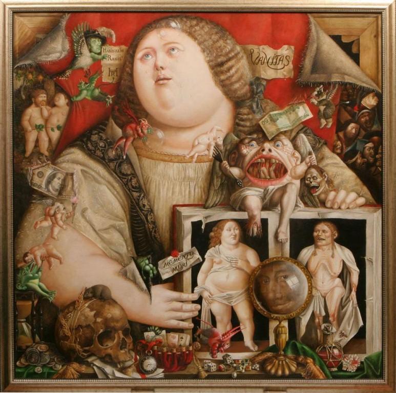 Рамиль Хабибуллин.    Memento mori.    2007 г. Холст, масло. 110х110 см.
