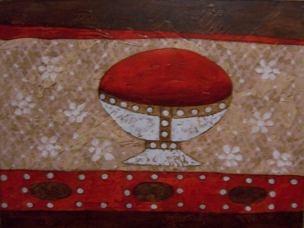 Елена Гладышева.    Грааль.    2006 г. Холст, масло. 40х50 см.