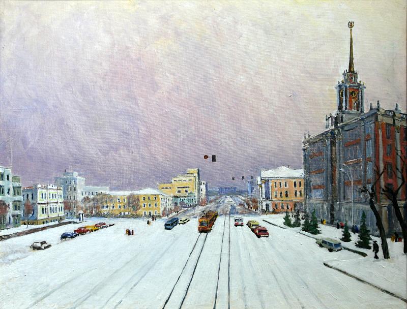 Бурак Александр Филиппович (1921-1997г.)            Площадь 1905 года.        1996 г.   Холст, масло.    67х85 см