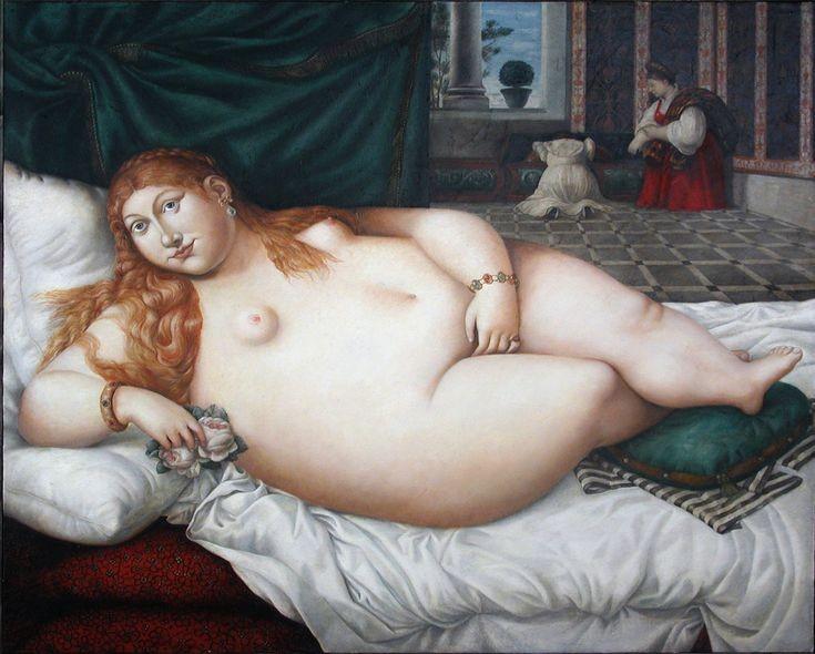 Венера Урбинская.     2002 г. Холст, масло. 126х141 см.