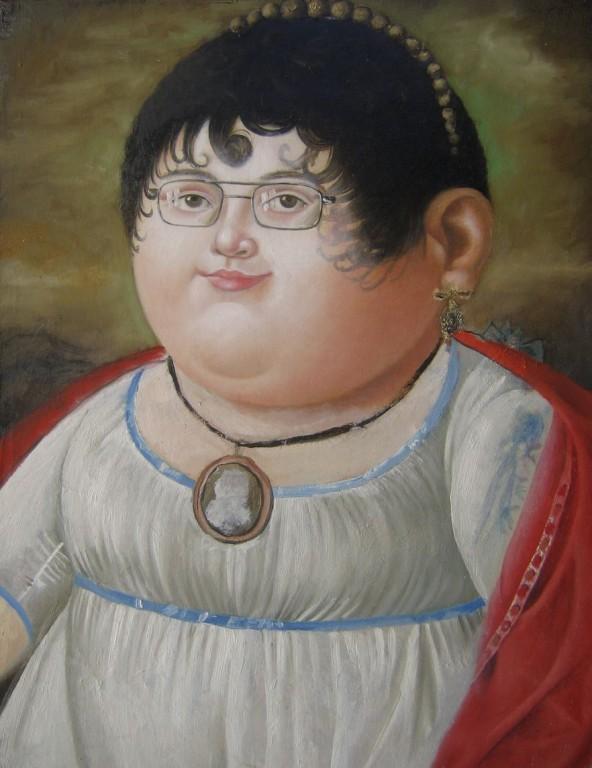 Портрет Уваровой.     2006 г. Холст, масло. 40х31,5 см.