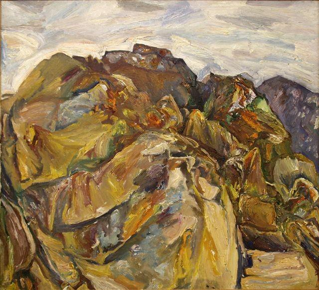 Алексей Бурлаков (1940-1999).     Горный хребет.   1981 г. Холст, масло.
