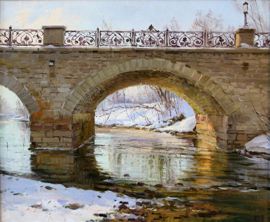 Алексей Ефремов.      Весенний свет (Царский мост).      2010 г. Холст, масло.          50х60 см.