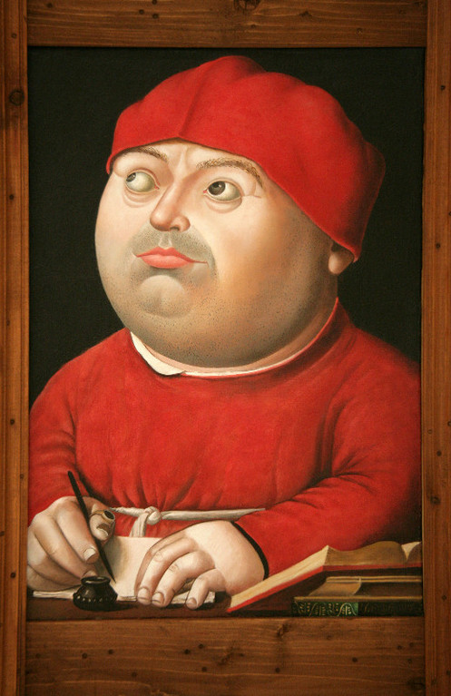Рамиль Хабибуллин.    Портрет Томмазо Ингирами. (Хранителя Ватиканской библиотеки).    2009 г.    Холст, масло.   37х25,5 см.