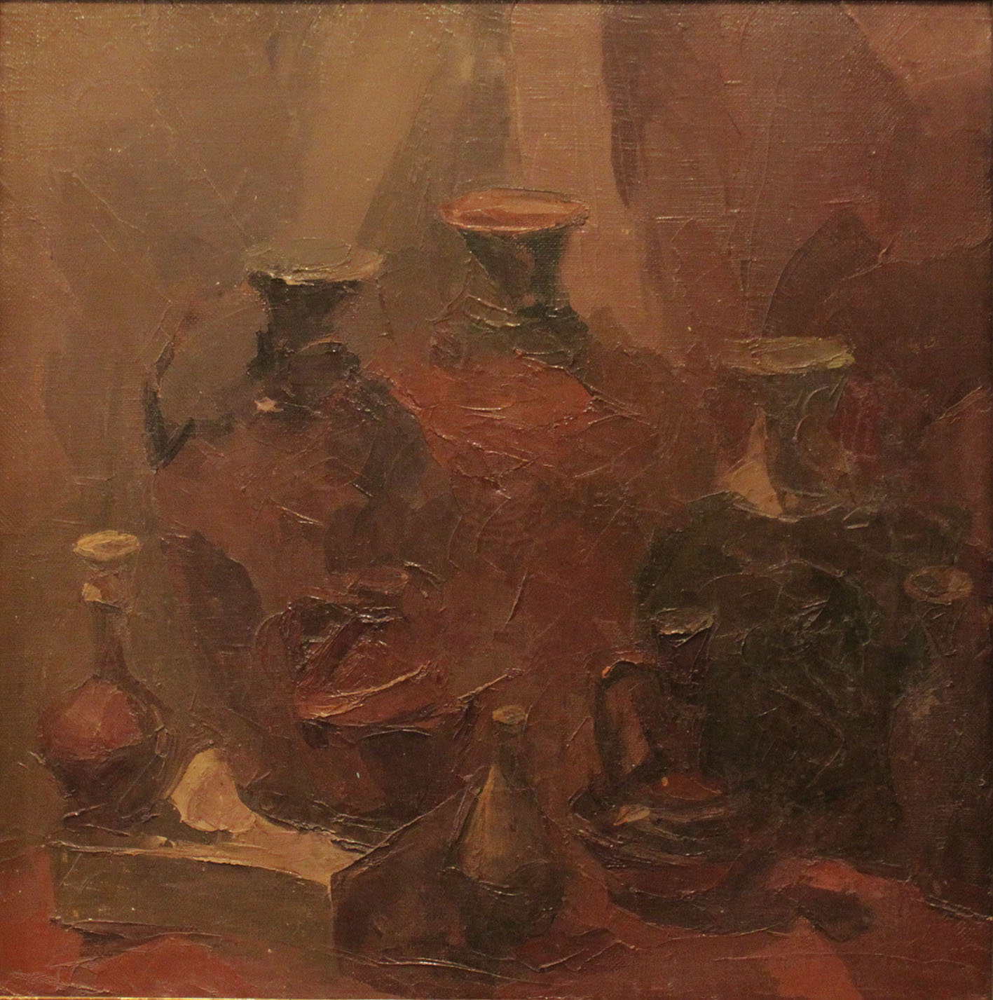 Игорь Бушуев.        Керамика.      1999 г.     Холст, масло.      60х60 см.
