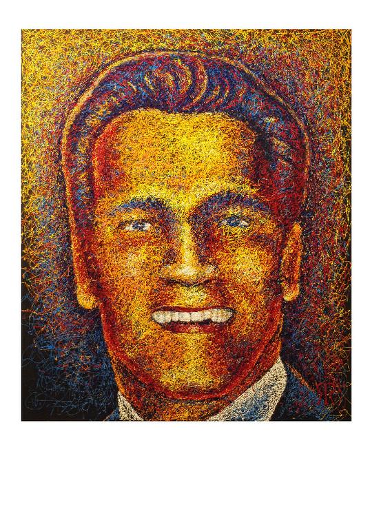 """Арнольд Шварценеггер.    Проект: """"Звезды улыбаются"""".      2010г.             Холст, акрил.         120х100 см."""