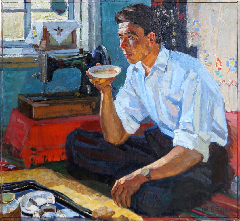 Александр Бурак.  Чабан Макимов.    1963 г.   Холст, масло.   63 х 74 см.