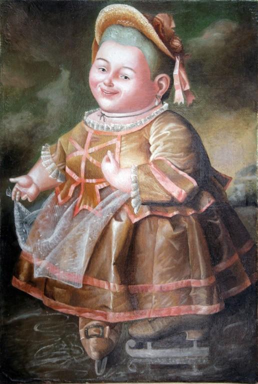 Портрет Е. И. Нелидовой.     2006 г. Холст, масло. 28,5х20,7 см.