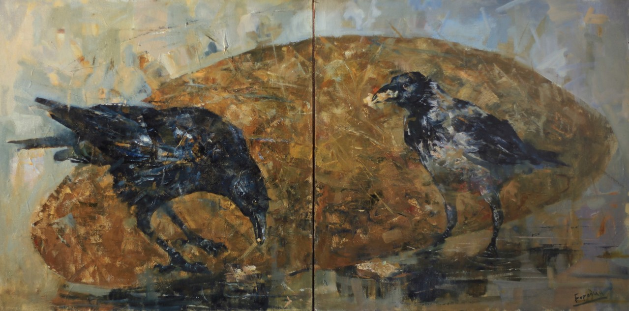 Хлеб «Чусовской»  (Диптих).        Холст, масло.          2011 г.       75х75 см.     75х75см.