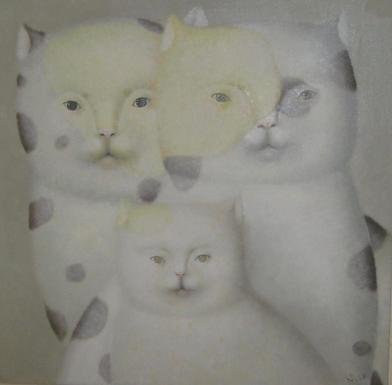 Юрий Первушин.       Год кота.  2010 г.     Холст,масло.    70х70 см
