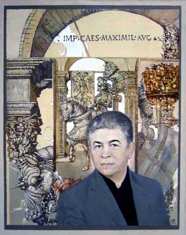 Станислав Крупп.     Портрет Владимира Лоскутова.     2005 г. Холст, масло.         100х80 см.