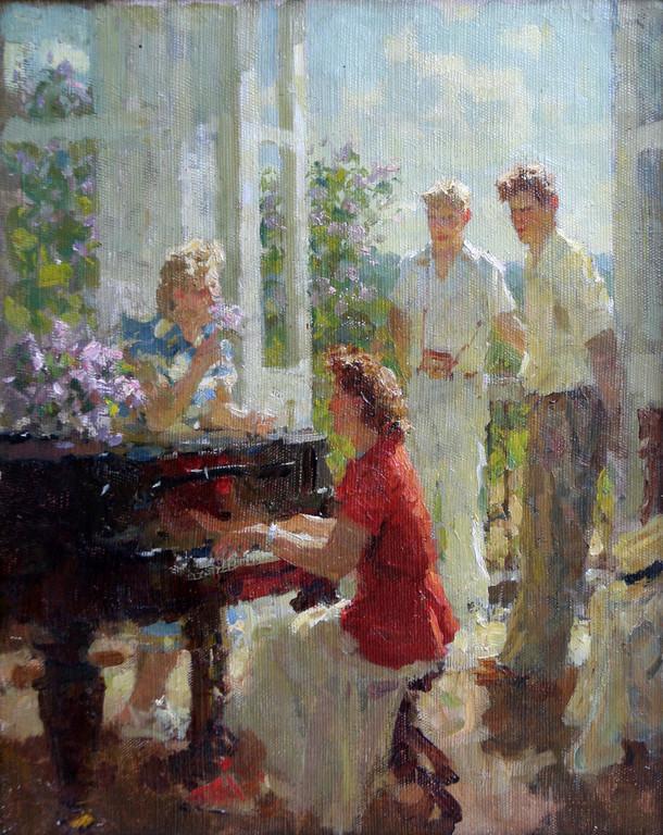 Виктор Зинов (1908-1991).       Молодость.      1958г.     Холст, масло.  41х32 см.