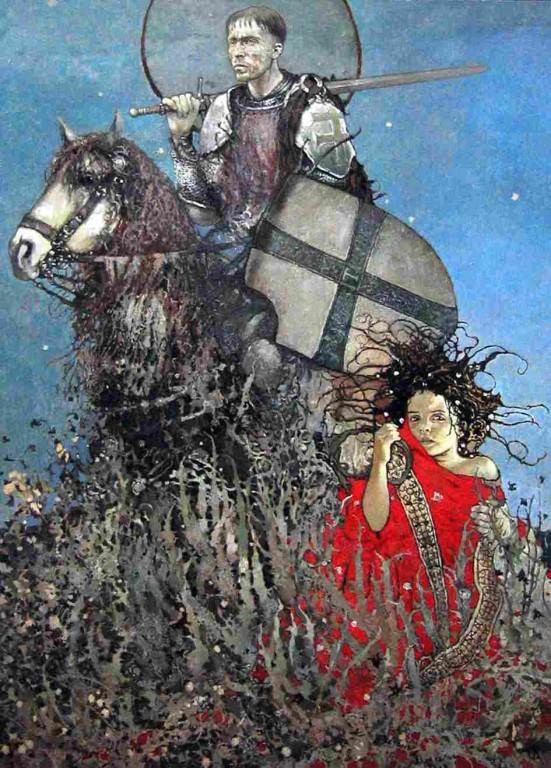 Станислав Крупп.    Ангел вечного возвращения.    2007 г. Холст, масло. 125х90 см.