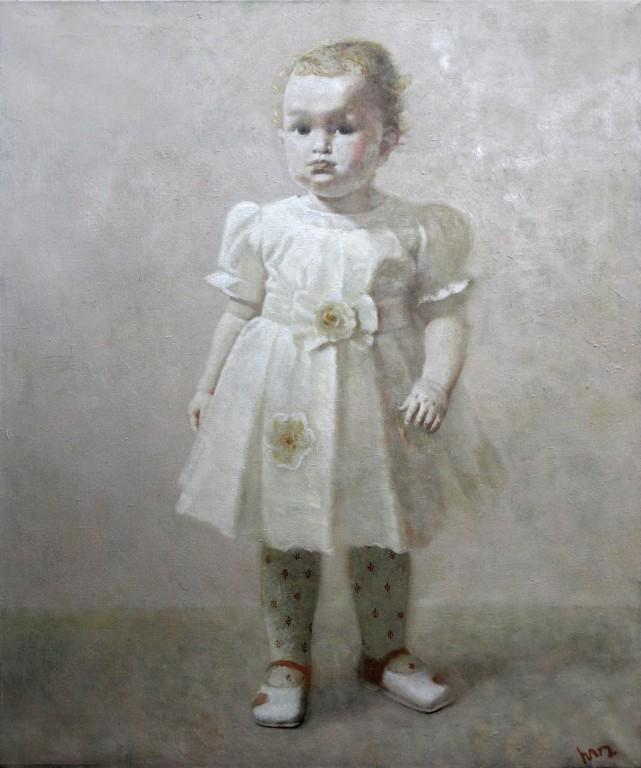 Портрет ребенка (Ульяна).     2007 г. Холст, масло. 100х85 см.