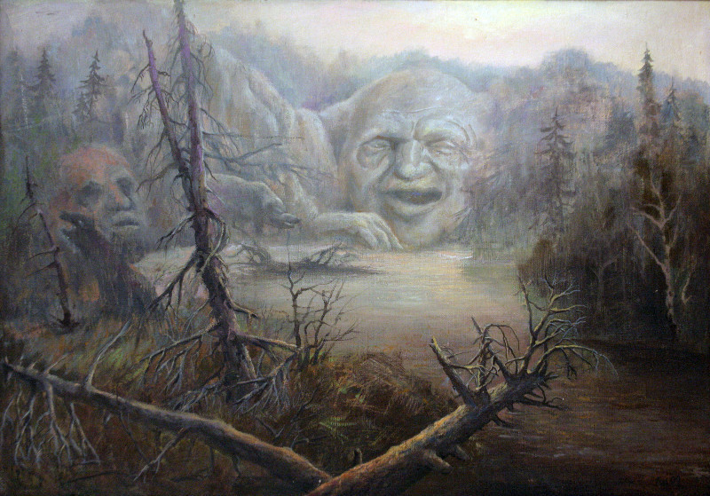 Геннадий Шаройкин.    Духи леса.    1992 г.    Холст, масло    60х82 см.