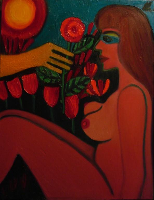 Елена Калугина.     Грезы.     2009 г. Холст, масло. 70х60 см.