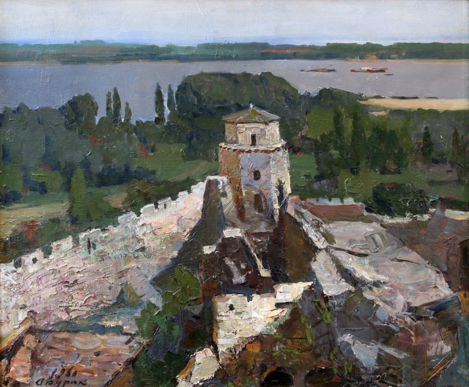 Александр Бурак (1921-1997).      Крепость Калемегдан. Белград.    1960 г. Холст, масло. 56х67 см.