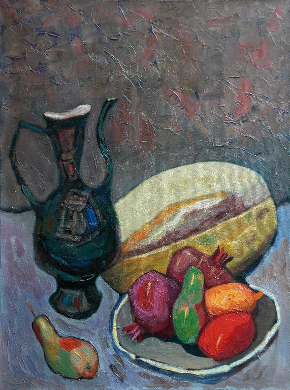 Натюрморт с дыней.        2011 г.        холст, масло                 55х75 см