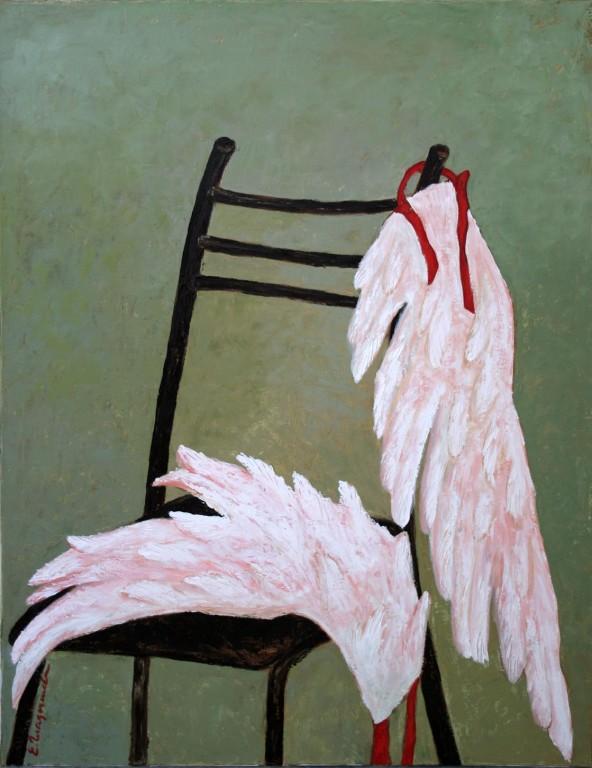 Елена Гладышева.     Крылья.     2006 г. Холст, масло. 110х90 см.