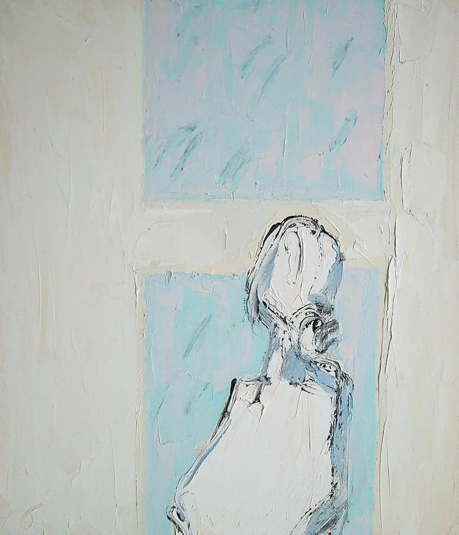 Сергей Лаушкин.    Листопад - снегопад.    2008 г.    Холст, масло.   80х70 см.
