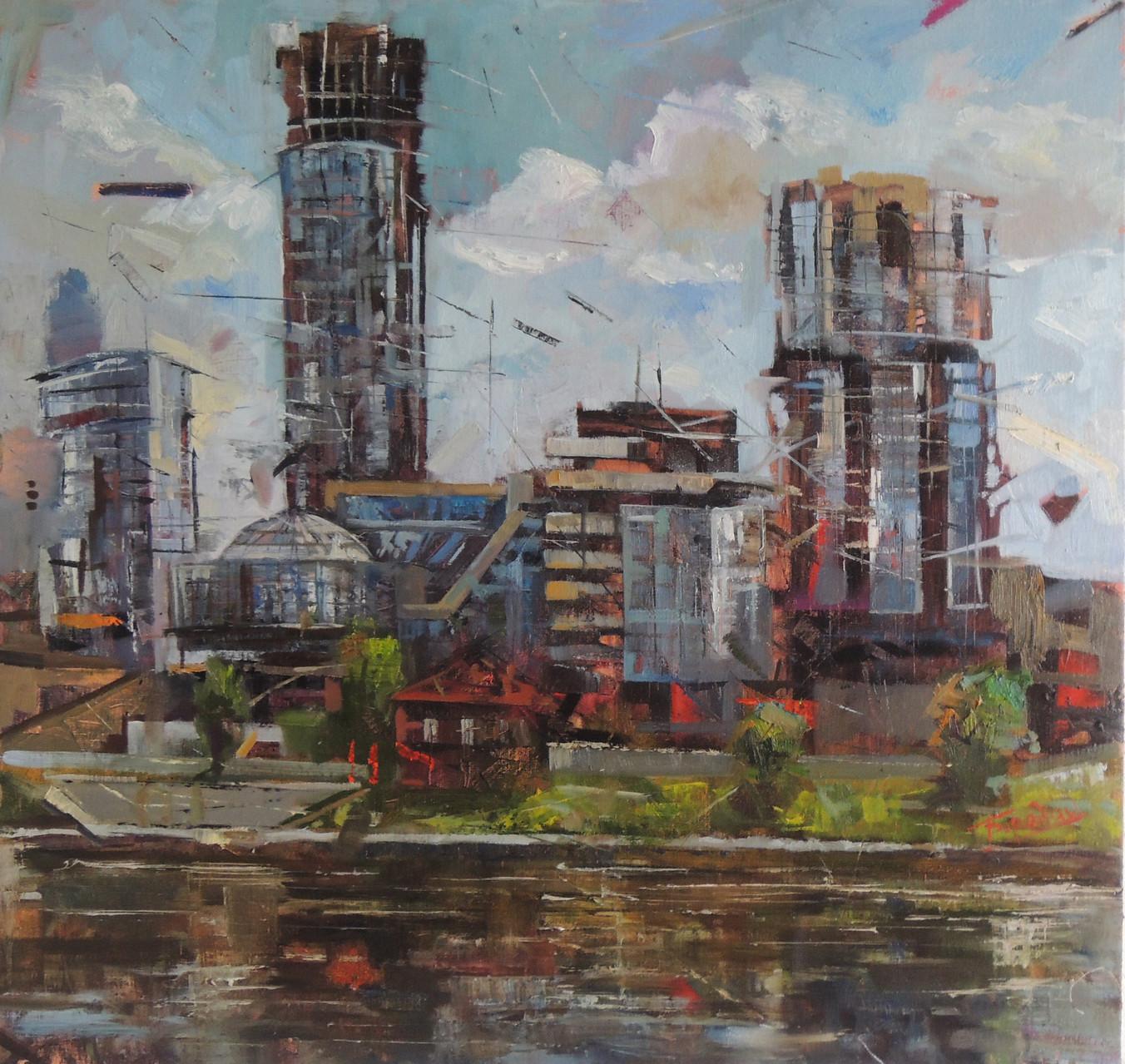 Екатеринбург-Сити.     Холст, масло.    80х80 см.
