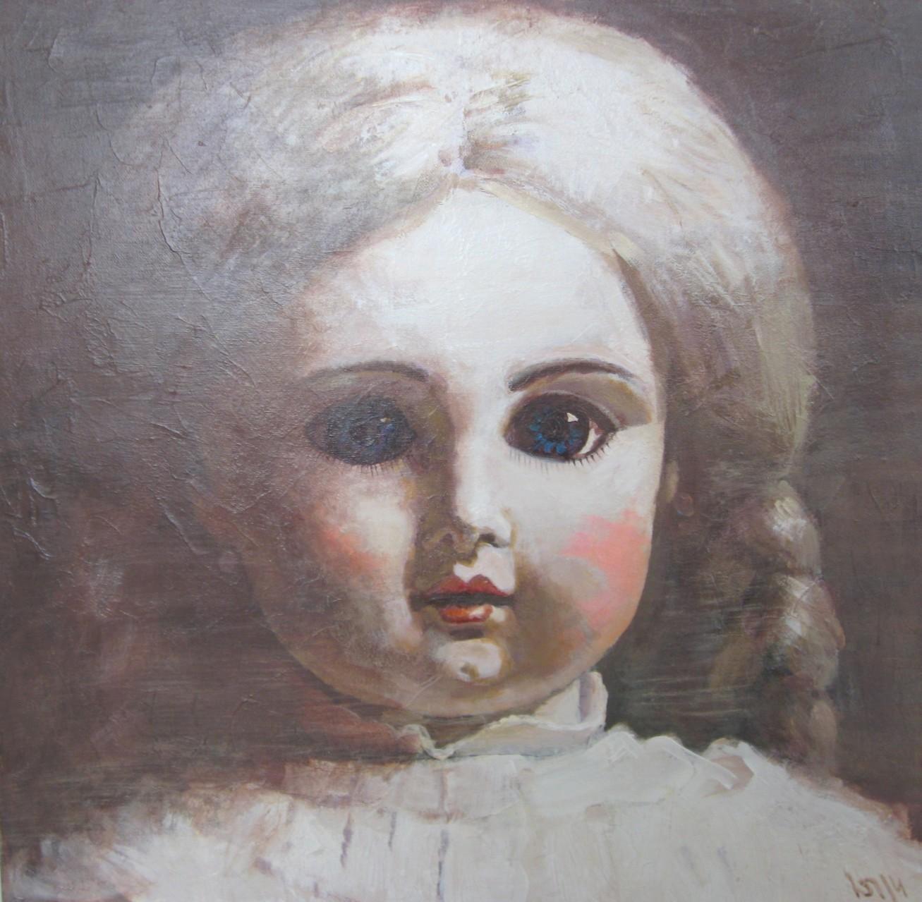Юрий Первушин.   Кукла 1.   (Сер. «Старинные куклы»).    2014 г.    Холст, акрил.    60х60 см.