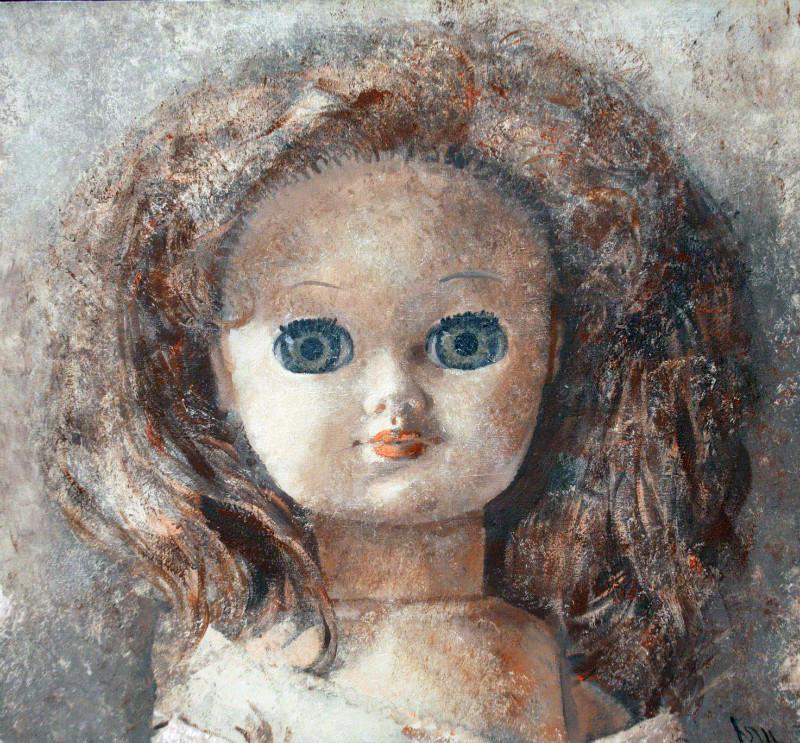 Юрий Первушин.  Кукла – І.   2011 г.   Холст, акрил.  60х65 см.
