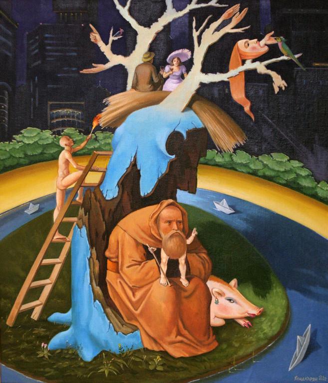 Сурен Хондкарян.     Искушение Св. Антония.     2012 г.     Холст, масло.  60х50 см.