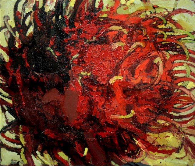 Катерина Поединщикова.    Рамбутан.   2013 г.      Холст, масло.   95х110 см.