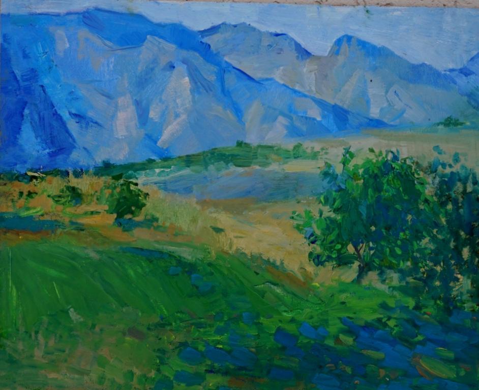 Асмик Манукян      Армения. В горах.    2016 г.    40х50 см.       Холст, масло.