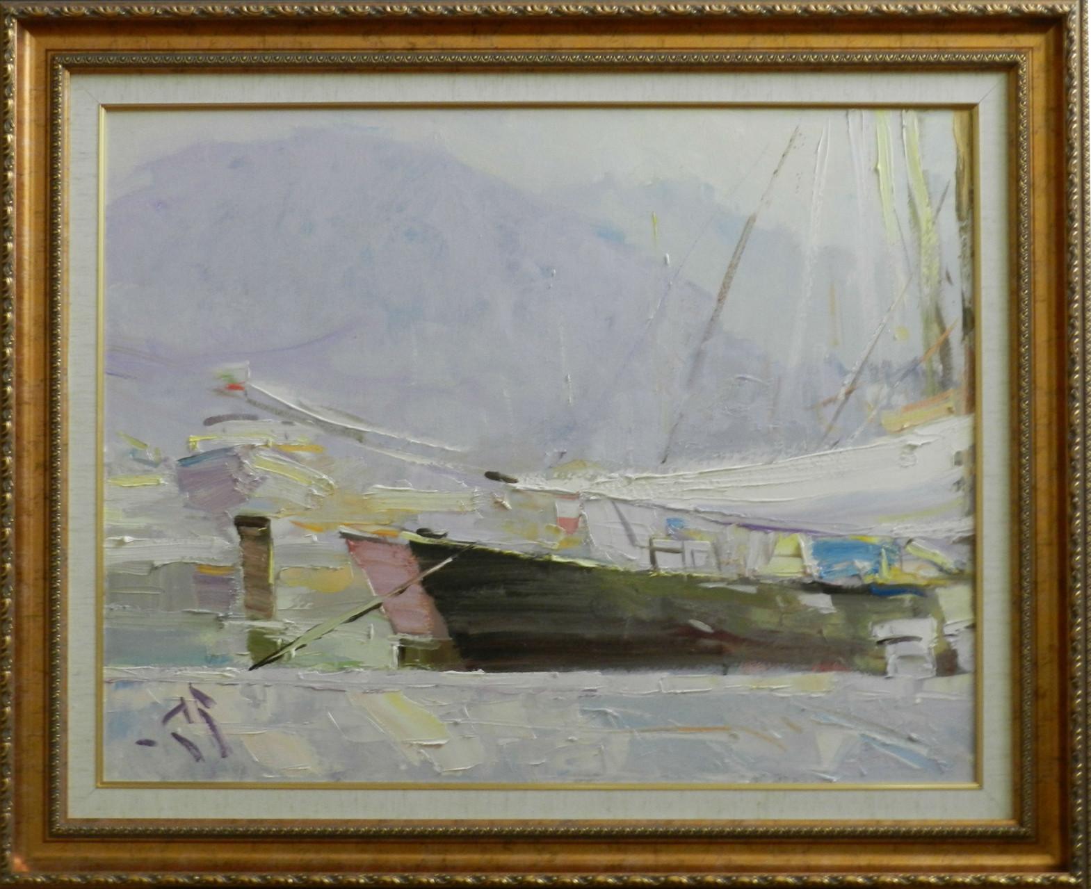 Ломбардия.  Озеро Комо, раннее утро.      2012 г.    Холст, масло.   67х73 см.