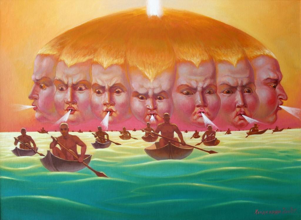 Сурен Хондкарян.     Вольные ветра.    2008 г. Холст, масло. 50х70 см