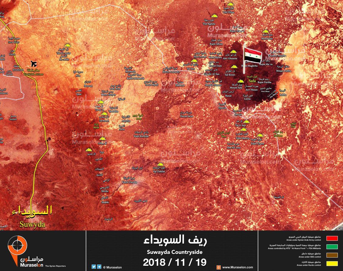 Sconfitta dell'ISIS ad Al-Safa, governo siriano ha il pieno controllo della Siria meridionale per la prima volta dal 2011