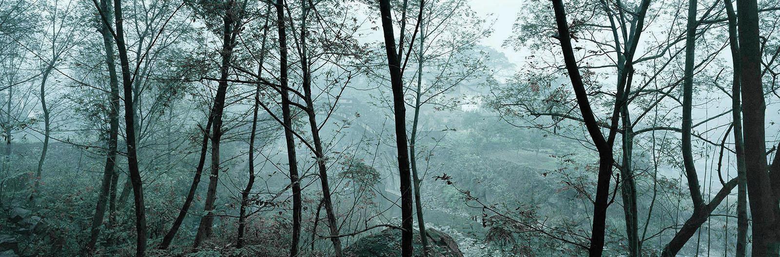 Zeng Nian,Le pont de Xuxian («histoire des ancêtres»), district de Yunyang, Chobqing Chine. 2002. Tirage jet d'encre sur papier INNOVA Exhibition Photo Baryta 310 gsm, 128.6X42.5cm / 01/15