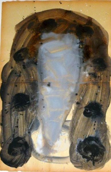 MASQUE 2006, Pigment et Acrylique sur papier 50x40cm
