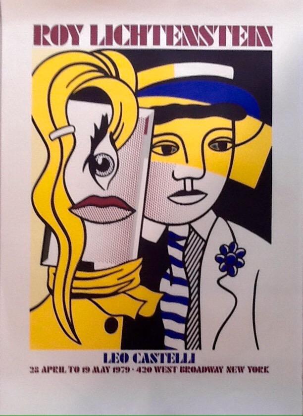 roy Lichtenstein affiche lithographique , 91 x 65 cm