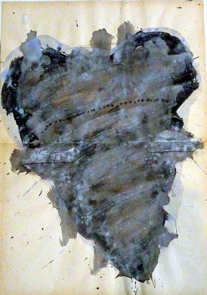 MASQUE 2007, Pigment et Acrylique sur papier 58X40cm